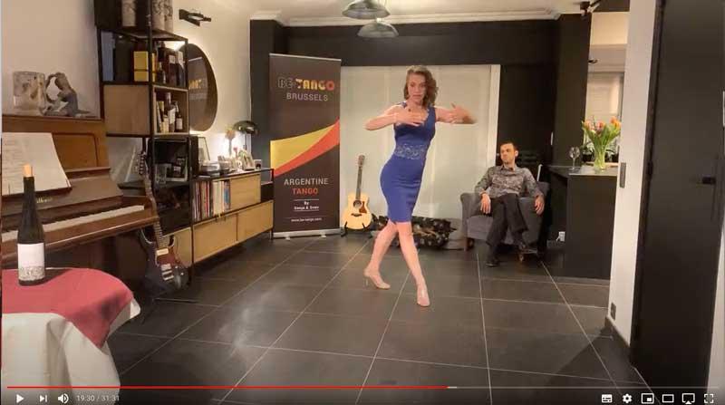 leçon de tango en ligne intermédiaire class2 avancé