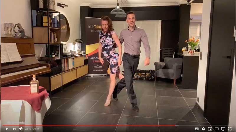 leçon de tango en ligne intermédiaire class3 avancé