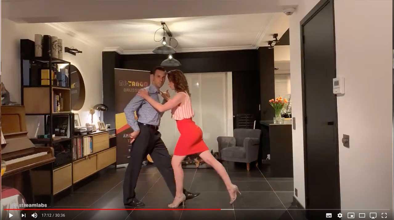 tango techniek les vooruit lopen