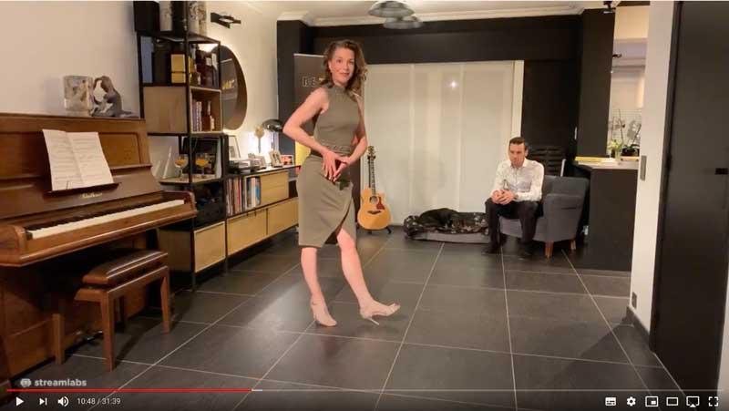 techniekles achterwaarts lopen tango 2